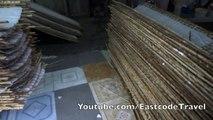Vietnamese Hu Tieu making process rice noodles or  Kuy teav factory