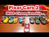 Disney Pixar Cars WGP Racers with Lightning McQueen with the Race Car Launcher