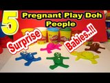 5 Play Doh Pregnant People with Surprise Babies   Cars, Queen Elsa, Spiderman, Spike and Olaf  lol