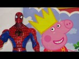 Peppa Pig Surprise Bag with Coloring Book gets Pranked by Spiderman  lol