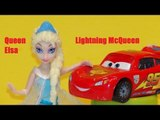Disney Frozen characters go to Radiator Springs and meet Lightning McQueen, Mater and more