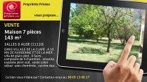 A vendre - maison - SALLES D AUDE (11110) - 7 pièces - 143m²