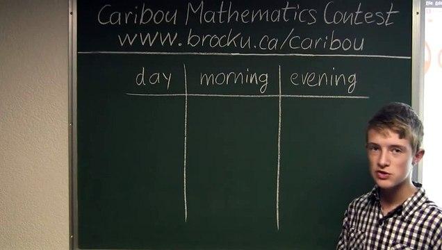 Caribou Contest February 2012, grade 3/4, q.10