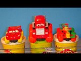 Pixar Cars Lightning McQueen Hydro Wheels with Mack Hydro Wheels, and Rip Clutchgoneski Hydro Wheels