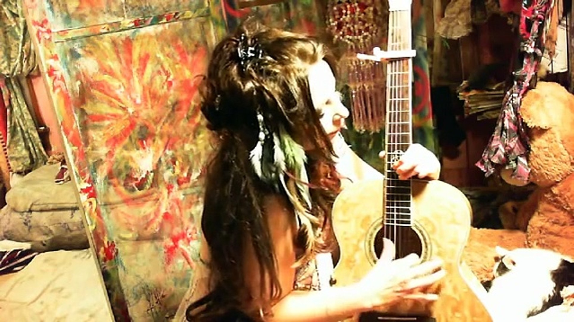 Female acoustic guitar ,original _Indian maiden i want you! fun comedy folk song.Kashmir