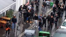 Zionists attack the march of solidarity with the Palestinian people in Paris, France