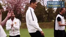 Manchester United stars in footgolf battle on the fairways