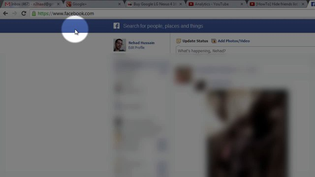 [HowTo] Hide friends list on Facebook (2013)