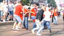 Krawalle vor EM-Duell Russland-Polen in Warschau