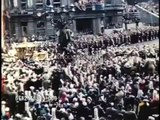 Crowds cheer for Queen Elizabeth II during her Coronation - News Footage