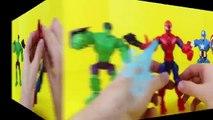 Superheroes Mashers Marvel Action Heroes Spiderman The Incredible Hulk Captain America Super Hero
