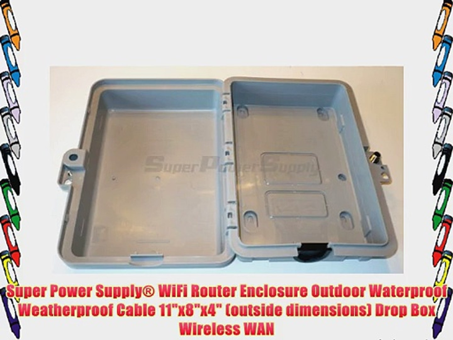 Super Power Supply? WiFi Router Enclosure Outdoor Waterproof Weatherproof  Cable 11x8x4 (outside