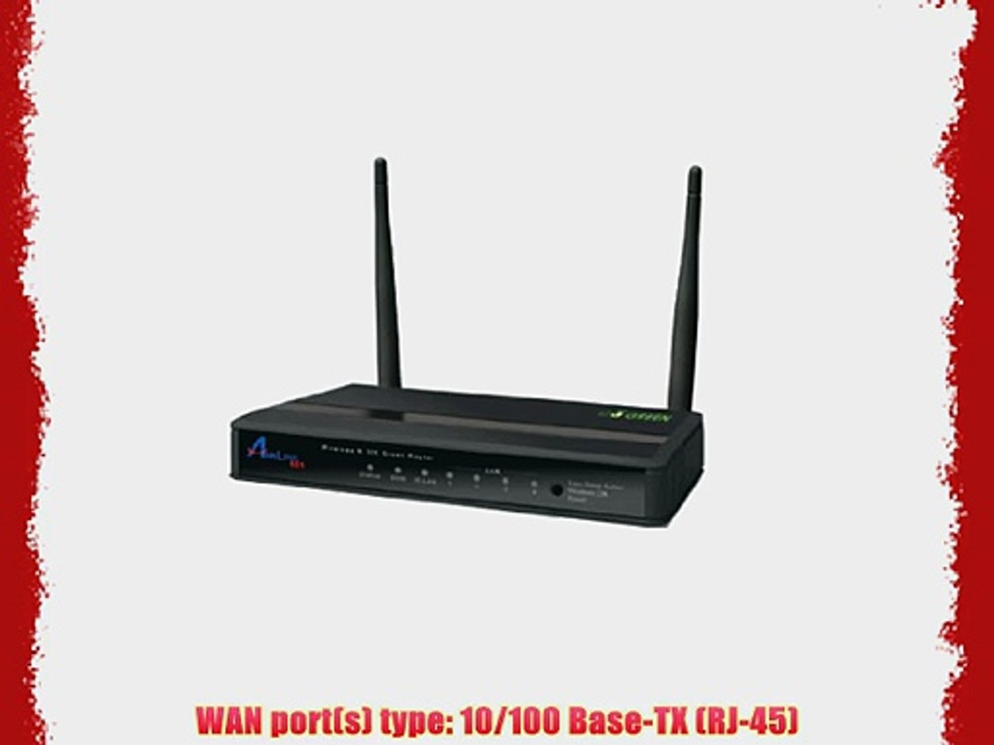 RJ-45 Airlink 101 Wireless N 300MBPS Router 10//100 Base-TX AR686W