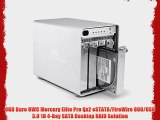 0GB Bare OWC Mercury Elite Pro Qx2 eSTATA/FireWire 800/USB 3.0 1U 4-Bay SATA Desktop RAID Solution