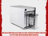0GB Bare OWC Mercury Elite Pro Qx2 eSTATA/FireWire 800/USB 3.0 1U 4-Bay SATA Desktop RAID Solution