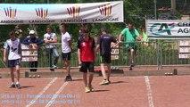 Première partie de poules, championnat de France de combiné Jeunes, Sport Boules, Langogne 2015