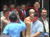 CM Shahbaz Sharif assists stumbling CM Qaim Ali Shah.