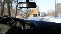 BMW E36 316i onboard winter driving & some little drifts (HD)