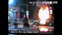 Un homme fait exploser sa voiture pendant son arrestation