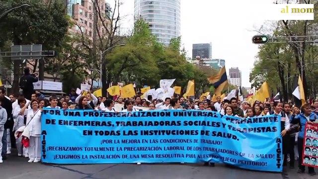 Enfermeras marchan para exigir respeto por su profesión