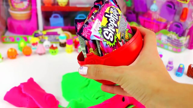Shopkins Mega Play Doh Surprise Egg EXCLUSIVE EDITION Spin Mix Bakery Stand set