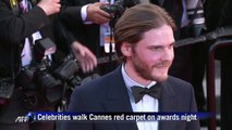 Celebrities walk Cannes red carpet on awards night
