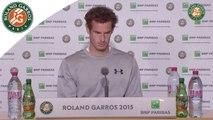 Conférence de presse Andy Murray Roland-Garros 2015 / Quarts de finale
