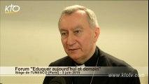 Cardinal Parolin : L'éducation et la vocation des catholiques
