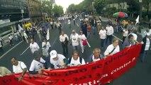 Policías y manifestantes se enfrentan en la marcha del Halconazo