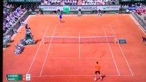 Roland Garros - L'échange d'anthologie entre Rafael Nadal et Novak Djokovic