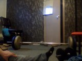 Bodybuilding Bicep Tricep (Barbell rows Wide grip for Upper back detail and thickness)