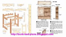bunk bed plans Twin over full bunk bed plans