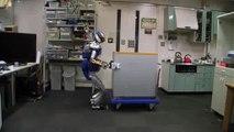 Des robots japonais portent des objets très lourds.