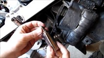 Installing NGK Iridium Extended Tip Spark Plug in BMW F650 GS motorcycle