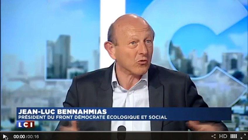 """Jean Luc Bennahmias : """"Le Front Démocrate est un parti laïque et républicain"""""""