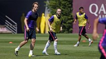 FC Barcelona training session: Last training session in Barcelona before the final