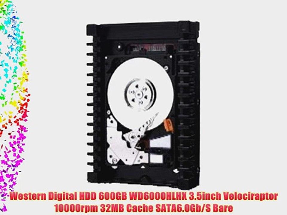 Western Digital Velociraptor 600 GB SATA III 10000 RPM 32 MB Cache Bulk//OEM 3.5