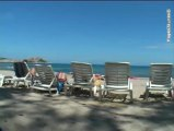 Le club de vacances C.O Soleil de Calvi, sur la plage de Calvi en Haute-Corse.