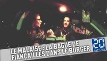 Malaise: il cache la bague de fiancailles dans un burger, elle dit non