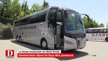 Série Stade Toulousain découverte du bus des joueurs toulousains