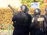French protesters clash with riot police
