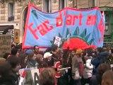 Manifestation contre la LRU - 10 février 2009 - Cortège UFR04 Université Paris 1