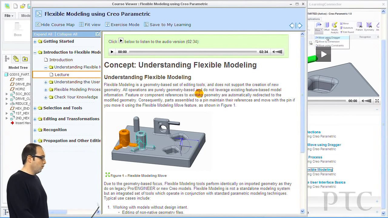 Demonstrating LearningConnector for Creo - PTC