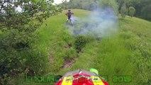 KTM EXC 250 & Kawasaki KMX 125 ENDURO AUSFLUG 2015 + Police
