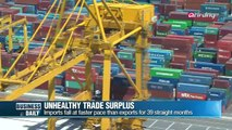 Business Daily-A ″recessive-type″ trade surplus Korea's trade surplus reached US$8.4 bil.