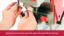 Mechanical key cutting machine for Volkswagen and Audi laser keys   Keyline Punto