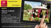 A vendre - maison - BEGLES (33130) - 5 pièces - 170m²