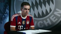 """Philipp Lahm being """"Against Ebola"""". (RESPECT)"""