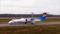 Antonov AN 124-100 SPECTECULAR snowy landing at LUX (RWY 24)