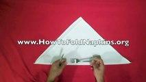 How To Fold Napkins - Silverware Roll (Napkin Folding)